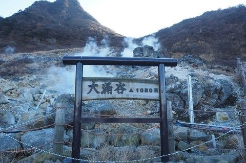大涌谷火山口