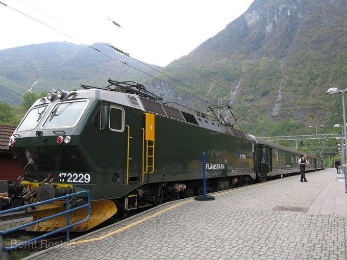 挪威縮影山岳景觀火車