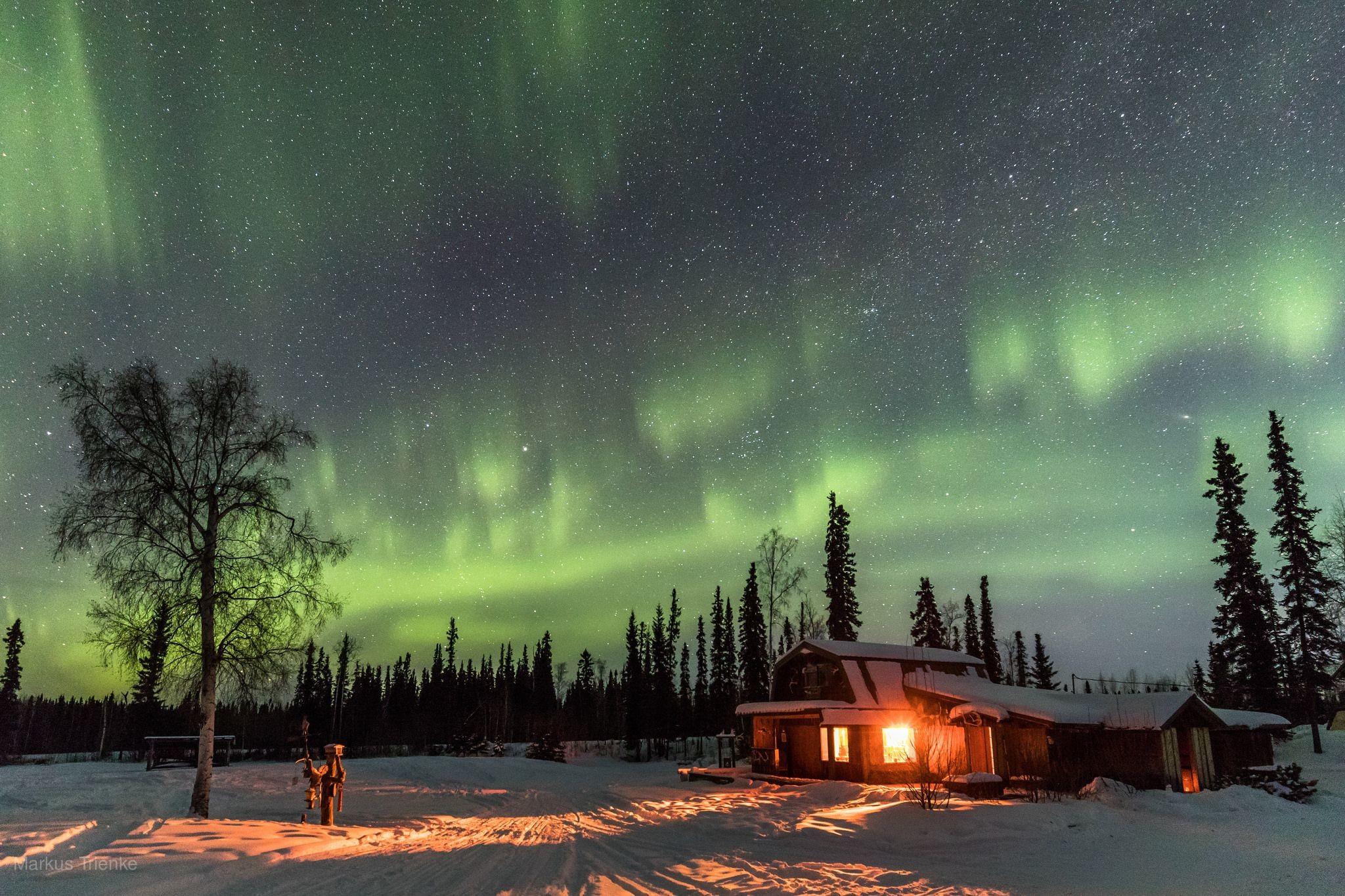 阿拉斯加幸福極光7日-西雅圖直飛極光之城費爾班、極光小屋夜觀極光