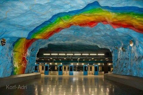 斯德哥爾摩藝術地鐵之旅