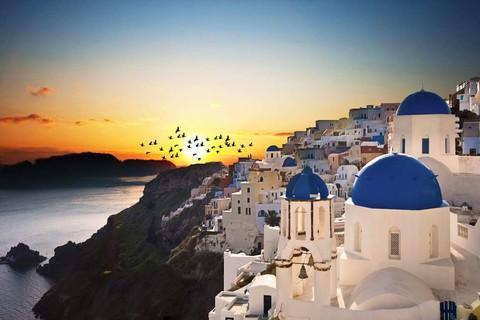 希臘天空之城 聖托里尼 愛琴海三小島10天