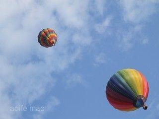 搭乘熱氣球