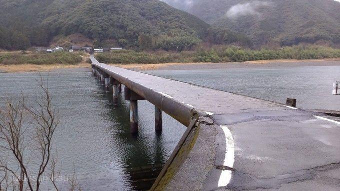 四萬十川下沉橋