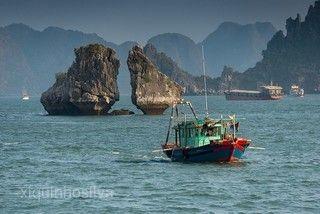 下龍灣漁村
