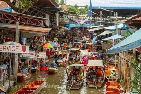 泰夯泰國~爆笑鐵支路、雙夜市、水流活蝦燒烤、水上樂園 5+1日(長榮)