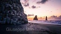 黑色玄武岩沙灘