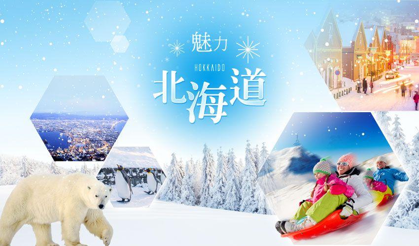 《魅力北海道》企鵝漫步‧米其林星空夜景‧雪上活動(雪上摩托車‧雪上香蕉船‧雪盆)‧浪漫小樽‧螃蟹溫泉5日