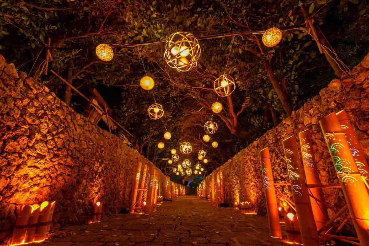 沖繩冬季限定.琉球王國村~夜燈祭.海洋博物館四日